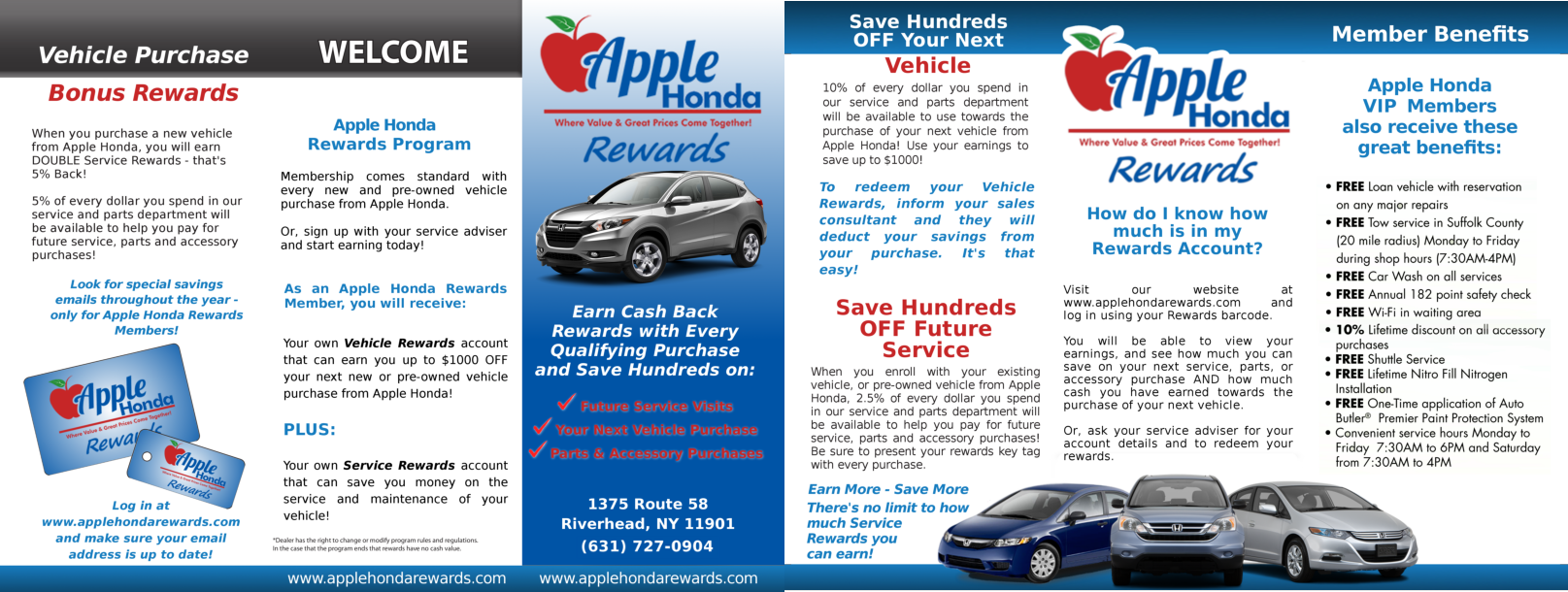 Apple Honda Rewards Card Is Property Of Apple Honda. All Services And  Promotions Are Subject To Change Without Customer Notification.